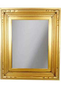 Espelho Moldura 55X65Cm Madeira M25 Dourado
