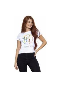 Camiseta Sideway Harry Potter Plataforma 9 3/4 - Branca