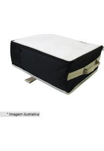 Organizador Para Toalhass- Preto & Bege- 15X36X36Cm