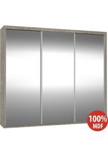 Guarda Roupa 3 Portas De Espelho 100% Mdf 1986E3 Demolição - Foscarini