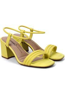 Sandália Dakota Salto Bloco Feminina - Feminino-Amarelo