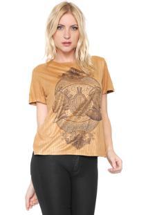 Camiseta Lança Perfume Canelada Caramelo