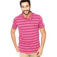 f704154ea7 Camisa Polo Manga Curta Reserva Listras Rosa