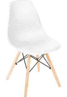 Cadeira Eames Colmeia- Branca & Marrom Claro- 82,5X4Or Design