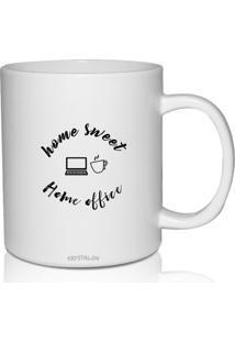 Caneca Branca Personalizada Para Home Office Home Sweet Home Círculo