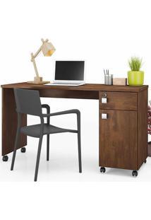 Mesa Computador Office Malta - Canela - Lukaliam Móveis