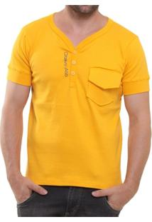 Camisa Polo Oitavo Ato Henley Com Bolso - Masculino