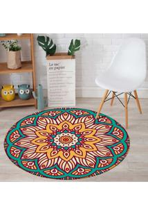Tapete Redondo Wevans Mandala Flower Color 84Cm