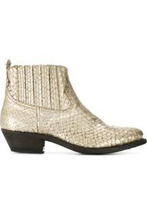 Golden Goose Ankle Boot Crosby - Dourado