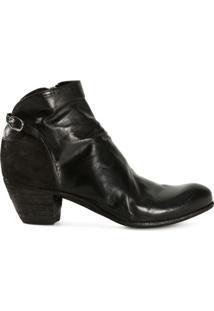 Officine Creative Ankle Boot De Couro - Preto