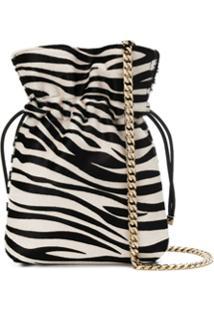 Les Petits Joueurs Zebra Print Chain Crossbody Bag - Preto