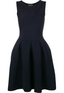 Emporio Armani Vestido Canelado - Azul