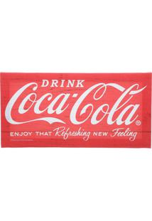 Quadro Tela Decorativa Coca-Cola Drink And Enjoy Vermelho 20X1,5X30 Cm Urban