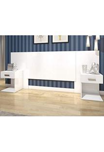 Cabeceira Casal 2 Criados-Mudos Calenda D602-10 Branco 1V - Henn