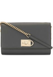 Salvatore Ferragamo Logo-Embellished Crossbody Bag - Preto
