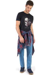 Calça Jeans Reta Basic Destroyer