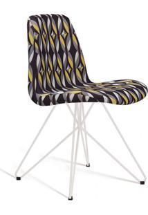 Cadeira De Jantar Eames Butterfly Branco E Preto