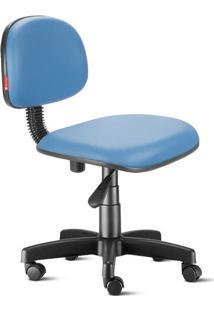 Cadeira Secretária Giratória Courvin Azul Claro