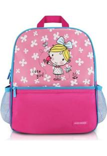 Mochila Escolar Jacki Design De Microfibra - Feminino-Pink