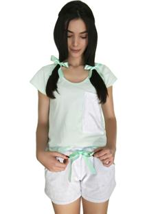 Pijama Marétoa Curto Chiclete Verde