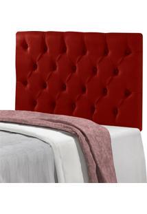 Cabeceira Mã´Naco Solteiro 90 Cm Sued Vermelho Casah - Vermelho - Dafiti