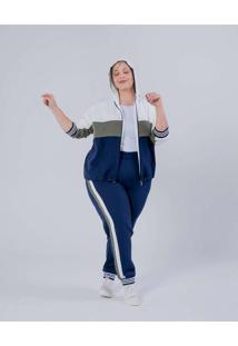 Calça Jogger Almaria Plus Size Miss Taylor Listras