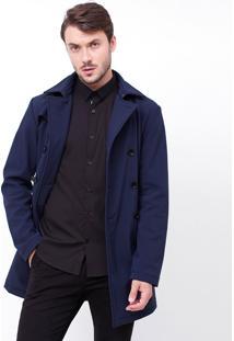 Casaco Trench Coat Em Neoprene