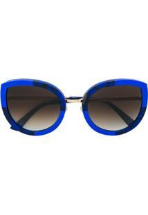Face À Face Óculos De Sol Gatinho Arredondado - Azul