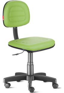 Cadeira Secretária Costura Giratória Courvin Verde Claro