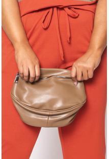 Bolsa Almaria Plus Size Salva Look Pochete Tune Bege