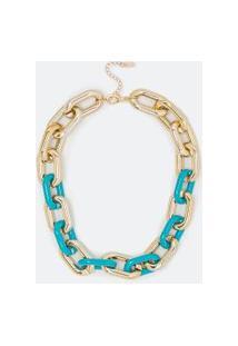 Maxi Colar De Elos Contrastantes | Accessories | Dourado | U