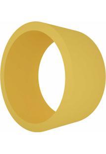 Nicho Em Mdf Redondo 39Cm Amarelo