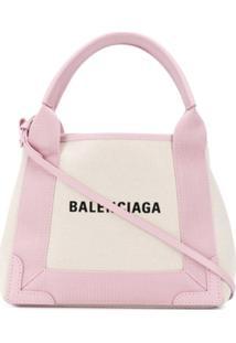 Balenciaga Bolsa Tote Cabas Pequena - Neutro