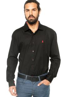 Camisa Manga Longa Polo Club Fashion Preta