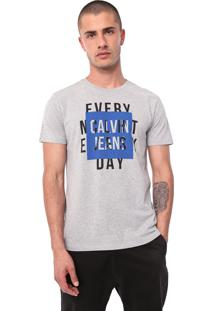 Camiseta Calvin Klein Jeans Night And Day Cinza