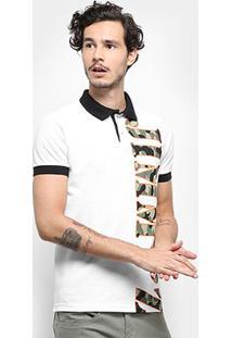 Camisa Polo Jimmy'Z Masculina - Masculino-Branco