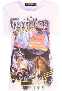 Camiseta Be Fashion 4Ever Easy Rider Branca