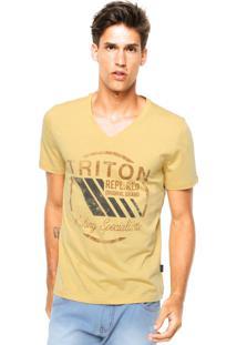 Camiseta Triton Logo Amarela