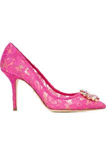 Dolce & Gabbana Scarpin De Renda Modelo 'Bellucci' - Rosa