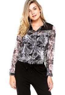 Camisa Facinelli Tigre Cinza