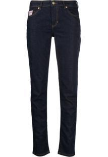 Versace Jeans Couture Calça Jeans Skinny Com Logo Bordado - Azul