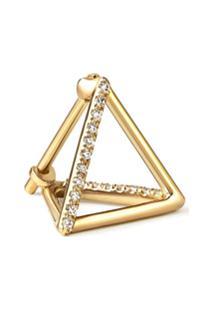 Shihara Diamond Triangle Earring 10 (02) - Metálico