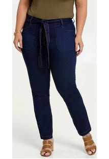 Calça Jeans Feminina Clochard Plus Size