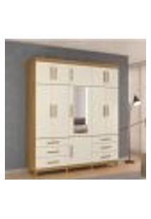 Guarda-Roupa Casal Triton Plus 11 Portas Com Espelho - Grife/Off White