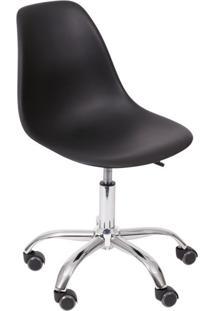 Cadeira Dkr Com Rodízios Preta