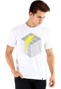 Camiseta Ouroboros Manga Curta Bolt Puzzle - Masculino-Branco