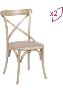 Jogo De Cadeiras- Madeira- 2Pã§S- Or Designor Design