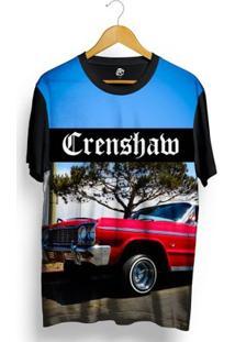 Camiseta Bsc Crenshaw Red Lowrider Full Print - Masculino-Preto