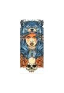 Adesivo Decorativo De Porta - Mulher - Lobo - 2676Cnpt