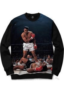 Blusa Bsc Muhammad Ali Full Print - Masculino-Preto